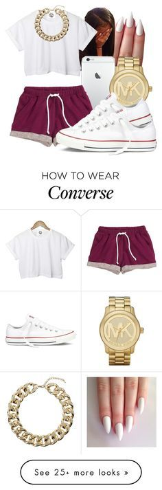 """""""S H A N T A E"""" by honey-cocaine1972 on Polyvore featuring H&M, CC, Michael Kors, Topshop and Converse"""