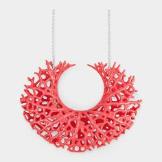 This necklace is inspired by the complex and often sculptural vein structures that carry fluids through organisms. The design is realized by a printing technology. Fashion Words, 3d Printed Jewelry, Plastic Jewelry, 3d Prints, Moma, Necklace Designs, Handmade Jewelry, Jewelry Design, Sculpture