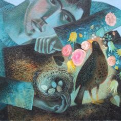 St Kevin and the blackbird - by Clive Hicks Jenkins