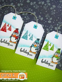 Holiday Gift Tags, Holiday Wishes, Homemade Christmas Cards, Christmas Crafts, Christmas Ideas, Origami Bookmark Corner, Stamp Tv, Christmas Punch, Beautiful Christmas Cards