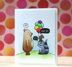 Laura Bassen: Mama Elephant May 2015 Stampede - Small Talk & Woodland Gifts stamp sets