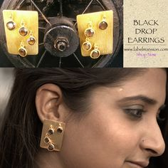 Nothing but a statement, yet again! Product Story: The 'Black Drop Earrings' with smokey stones & 0.5 micron gold plating at Rs. 2100/- Shop now at http://www.labelmansion.com/black-drop-earrings.html #labelmansion #earrings #smokey #goldplated #gold #vintage #classic #contemporary #shoponline #india