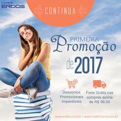 Continua a Promoção 2017. Aproveite! 🌟 Livros com até 87% de desconto e opção de Frete Grátis nas compras acima de R$ 99,00 😍<3