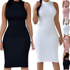 Women Bandage Bodycon Casual Sleeveless Evening Party Cocktail Club Mini Dr 2017