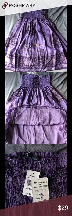 Selling this Planet Gold Purple Tube Dress/Skirt on Poshmark! My username is: mariaquinones94. #shopmycloset #poshmark #fashion #shopping #style #forsale #Planet Gold #Dresses & Skirts