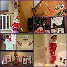 Yvonne Byatt's Family Fun: ELF ON THE SHELF IDEAS