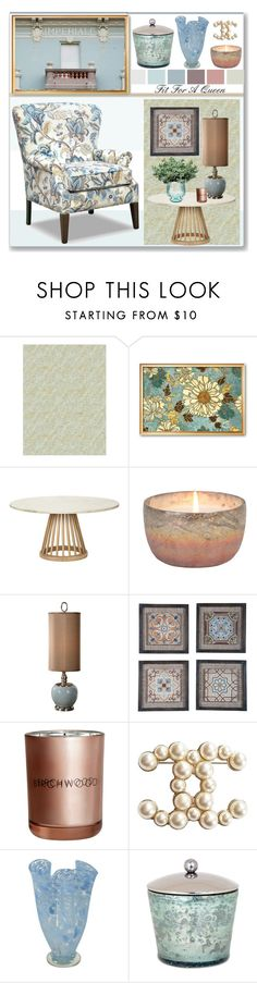 """""""Fit For A Queen"""" by stephlo-1 ❤ liked on Polyvore featuring interior, interiors, interior design, home, home decor, interior decorating, Tom Dixon, Uttermost, H&M and Chanel"""