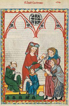 Manesse Codex - (1300 - 1340) Rudolf der Schreiber