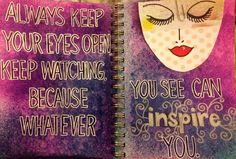 Art journal. Dylusions inks and doodling.