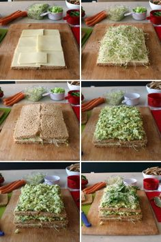 The only way to properly conclude a week dedicated to the sandwich is by making one sandwich to rule them all. And Friday jus Sandwich Torte, Sandwich Recipes, Cake Recipes, Party Sandwiches, How To Make Sandwich, Snacks Für Party, Cake Ingredients, Cake Tutorial, Creative Food