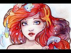 Watercolors Tips and Tricks - Ariel Portrait Hannah Paints