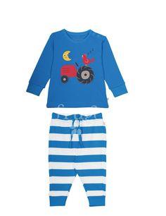 frugi jungen pyjama set traktor heldenkind