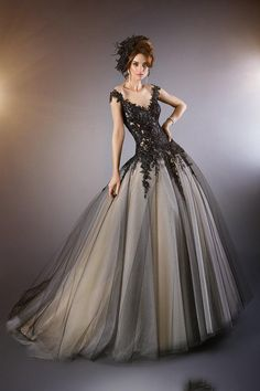 Black Prom Dresses With Illusion Neckline 2015 Vintage Gothic Beaded Appliques/Lace Brush Train Evening Party Formal Dresses With Cap Sleeve Formal Dresses 2015 Formal Dresses Short From Bride2028, $135.67| Dhgate.Com