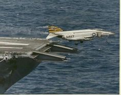 McDonnell F-4 Phantom after catapulted from an aircraft carrier.