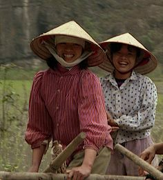 Laughing women in rice paddies; Hoa Lu, Red River Delta, V… | Flickr