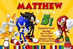 Check out this item in my Etsy shop https://www.etsy.com/listing/286111509/sonic-the-hedgehog-invitations-sonic-the