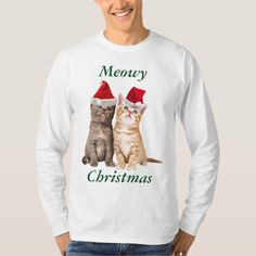 Meowy Christmas Kitten Mens Shirt - click to get yours right now!