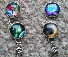 Planet drop earrings £3.50