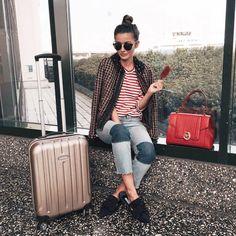 Alexandra (@lovelypepablog) travels in style along with her #LOVYBag #LOVYLover #Trussardi - Image via @lovelypepablog on Instagram