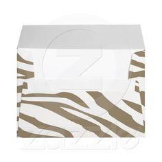 Cocoa Zebra Print Envelopes