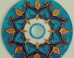 Mandala mdf Azul Oriental 40cm