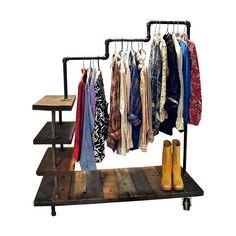 Could totally make this. Handmade Bascom Garment Rack   dotandbo.com