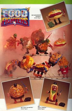 Food Fighters was an action figure line released by Mattel in 1988. The line consisted of ten figures that were divided into two armies: