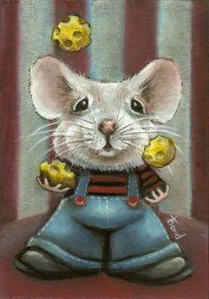 Cheese juggler. Cheese art.