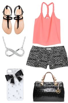 Entire outfit for a nice hot day! Minus the tacky I phone case Cute Outfits With Shorts, Cute Spring Outfits, Short Outfits, Cool Outfits, Summer Wear, Spring Summer Fashion, Summer Clothing, Summer Styles, Window Shopping