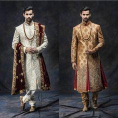 Indian Groom Dress, Wedding Dresses Men Indian, Wedding Dress Men, Pakistani Wedding Outfits, Mens Sherwani, Sherwani Groom, Kurta Men, Wedding Sherwani, Gq Mens Style