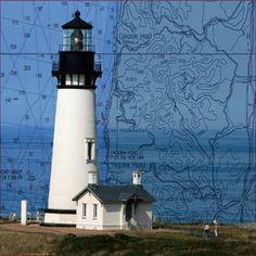 Yaquina Head on chart of area off Oregon coast