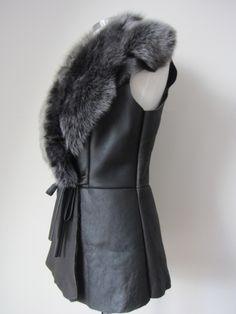 sheepskin gilet - Google Search Gloves, Google Search, Leather, Fashion, Moda, Fashion Styles, Fashion Illustrations