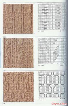 Образцы вязания спицами по-японски. - Клуб рукоделия - Страна Мам