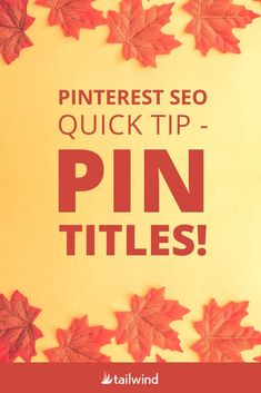Pin titles are the headlines of your images - helping with content distribution and inceasing traffic to your site. Write your best titles and use Tailwind to make it easier! Social Media Tips, Social Media Marketing, Marketing Strategies, Business Marketing, Personal Branding, Pinterest For Business, Instagram Tips, Pinterest Marketing, Marketing Digital