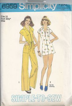 Vintage Simplicity Patterns 6959 7096 and 7119
