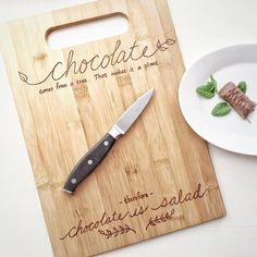 Why yes I did enjoy my salad.  Get one of these in my little Etsy shop (link in the bio of course ). #chocolateissalad #woodcuttingboard #imhavingtoomuchfun