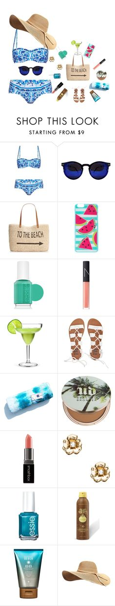"""""""Jamaica4"""" by queen-tianna on Polyvore featuring Dolce&Gabbana, Style & Co., Essie, NARS Cosmetics, Billabong, Urban Decay, Smashbox, Kate Spade, Sun Bum and Alterna"""