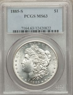 1885 S Morgan Silver Dollar PCGS MS63 (20822)