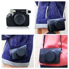 Fujifilm Instax Wide 300 Camera Case Leather Bag Black