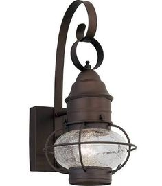 "Designers Fountain 1751-RT 1 Light Outdoor 7"" Onion Wall Lantern from the Nantuc Rustique Outdoor Lighting Wall Sconces Outdoor Wall Sconces"