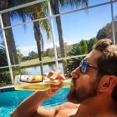 """Drinkin' like a dog in the sun."" - WWE Superstar Wade Barrett ~King Barrett ~Bad News Barrett"