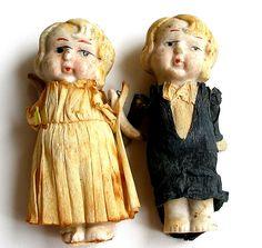"""""""I Do"""" Vintage bride & groom dolls .. Allie C."""