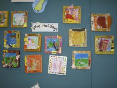 Holiday art within a frame.