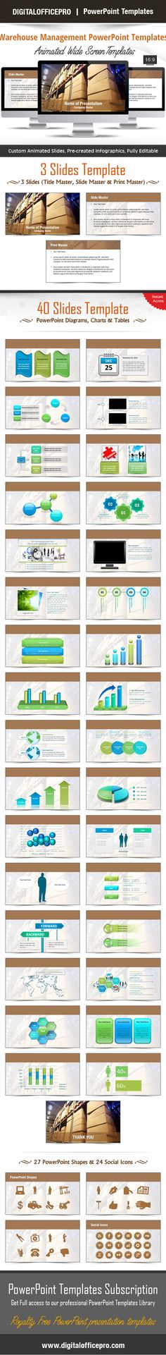 Impress and Engage your audience with Warehouse Management PowerPoint Template and Warehouse Management PowerPoint Backgrounds from DigitalOfficePro. Each template comes with a set of PowerPoint Diagrams, Charts & Shapes and are available for instant download.