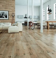 Looking for a durable, beautiful alternative to wood floors? Wood floor tiles are a great flooring solution to add some rustic charm to your home. Wood Plank Tile, Wood Tile Floors, Hardwood Floors, Living Room Flooring, Bedroom Flooring, Home Interior, Interior Design Tips, Bedroom Floor Tiles, Wood Effect Tiles
