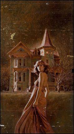 Gothic novel cover art.