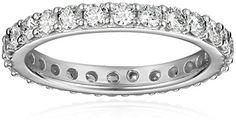 14k Gold Bead-Set Diamond Eternity Ring (1 cttw, H-I Color, I1-I2 Clarity) *** Read more @ http://www.amazon.com/gp/product/B003YKGYBW/?tag=splendidjewelry07-20&pij=240716070320