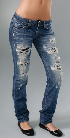 http://www.youtube.com/watch?v=BKY7AwWZybQ  This is the best DIY Video for how to make your own Distressed Denim!