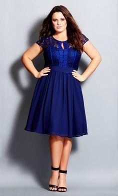 City Chic - ROMANTIC ROSA DRESS - Women's Plus Size Fashion