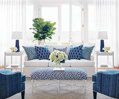 Living Room Design : Navy And White Family Room Living Decoration Of Light Blue D Decoration Of Light Blue Living Room Design ~ Something-fishy Blue And White Living Room, White Rooms, Coastal Living Rooms, New Living Room, Living Room Decor Blue, Hamptons Living Room, Good Living Room Colors, Navy Living Rooms, Cottage Living
